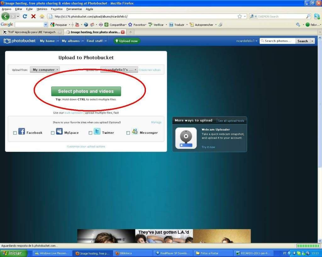 Aprenda a Postar Screens nos Foruns aqui do VooVirtual RICARDO-2011-jan-9-024