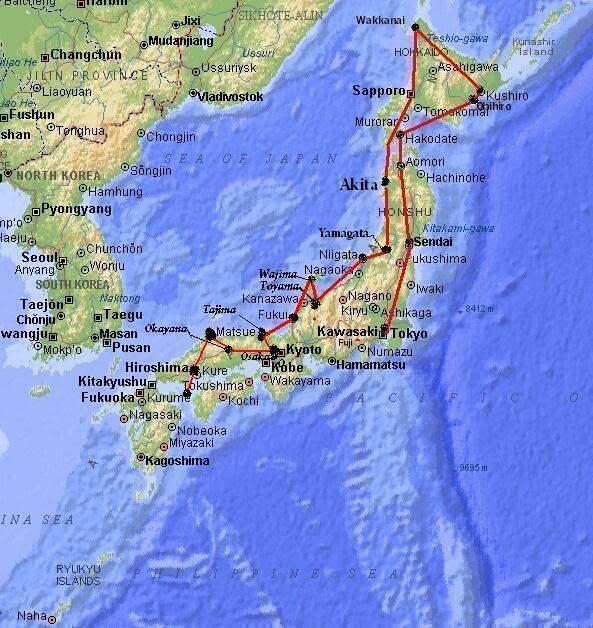 Por onde ja passei e por onde quero passar Map_japan