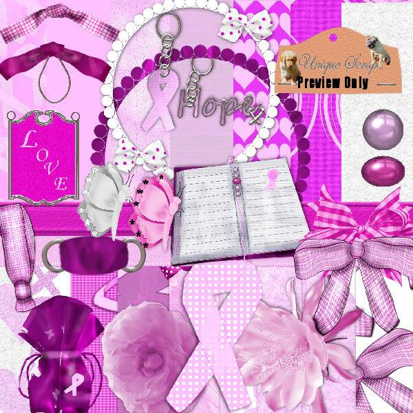 BeAware Breast Cancer Kit USBeAwareBCScrapkit_TaggerSizePreview