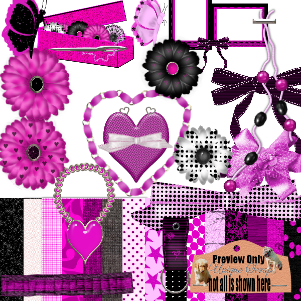So Girly Kit UniqueScrapz_SoGirlyKit_Preview