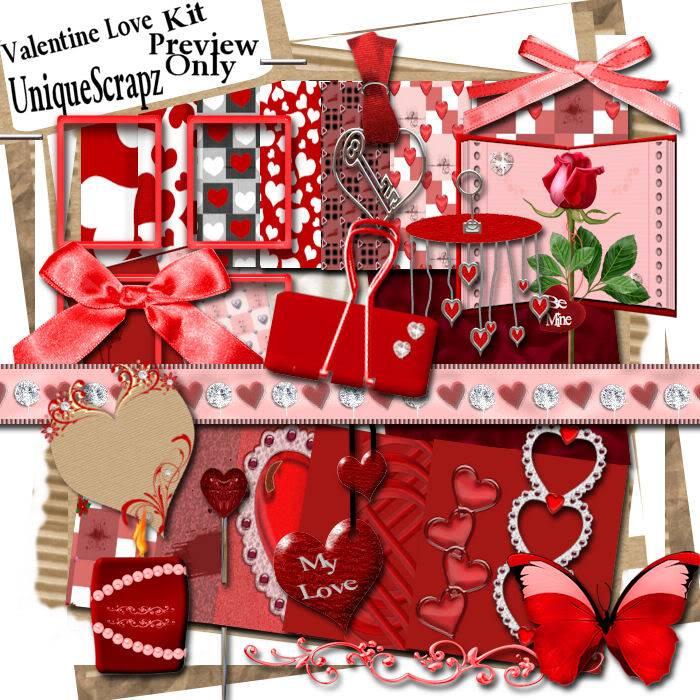 Valentine Love  UniqueScrapz_ValentineLove_Preview