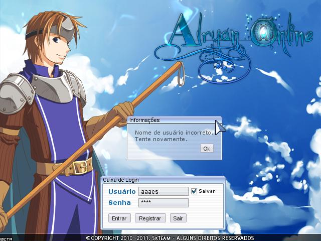Alryan Online - Login Screen Imagem