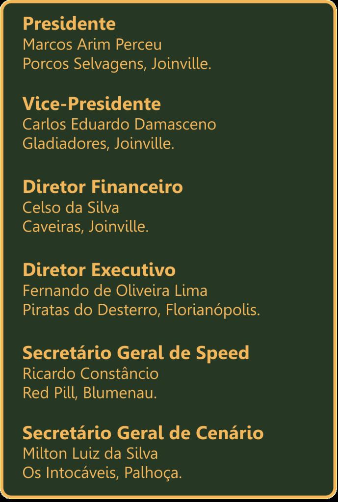 FPESC - Federação de Paintball do Estado de Santa Catarina Diretoria1