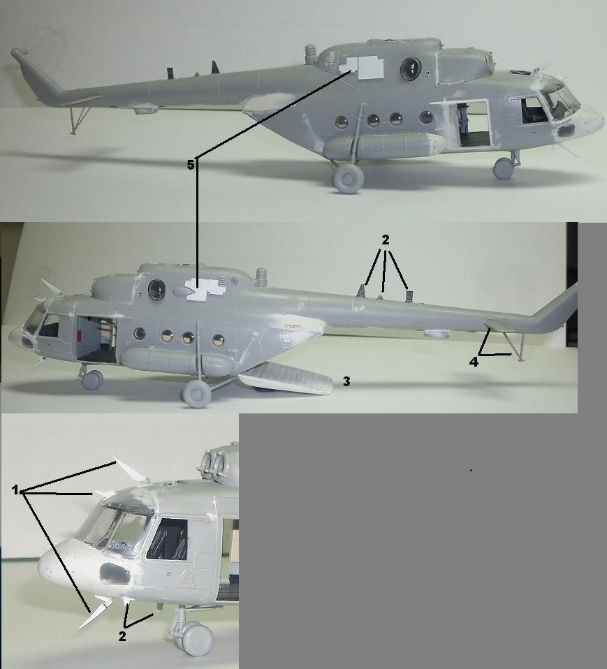 MI17V5 Venezolano/ Hobby boss MI8T 1/72 en proceso Avances6