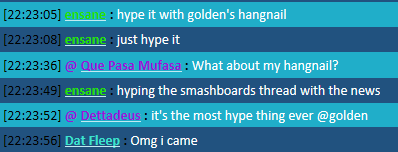 The New Chat FTW Thread Hangnail
