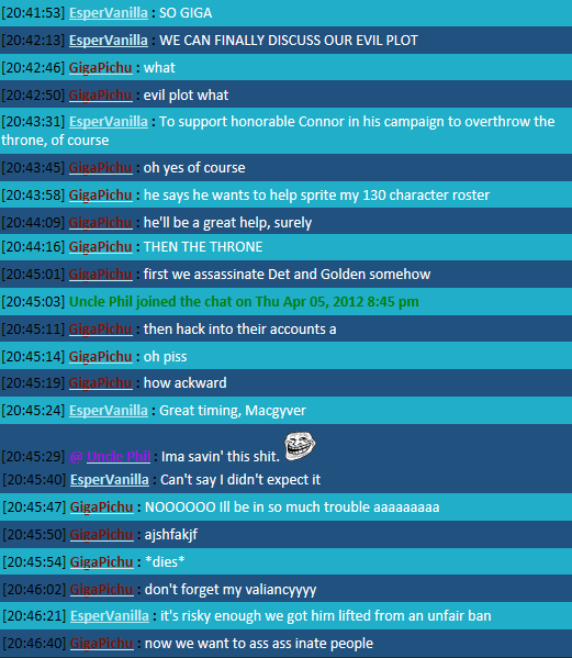 The New Chat FTW Thread Plot
