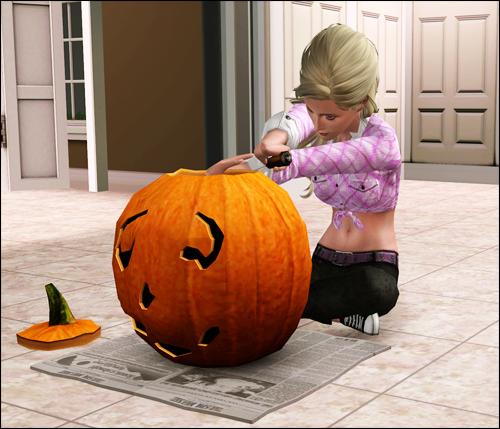 carving a pumpkin is dangerous Carvsimtc