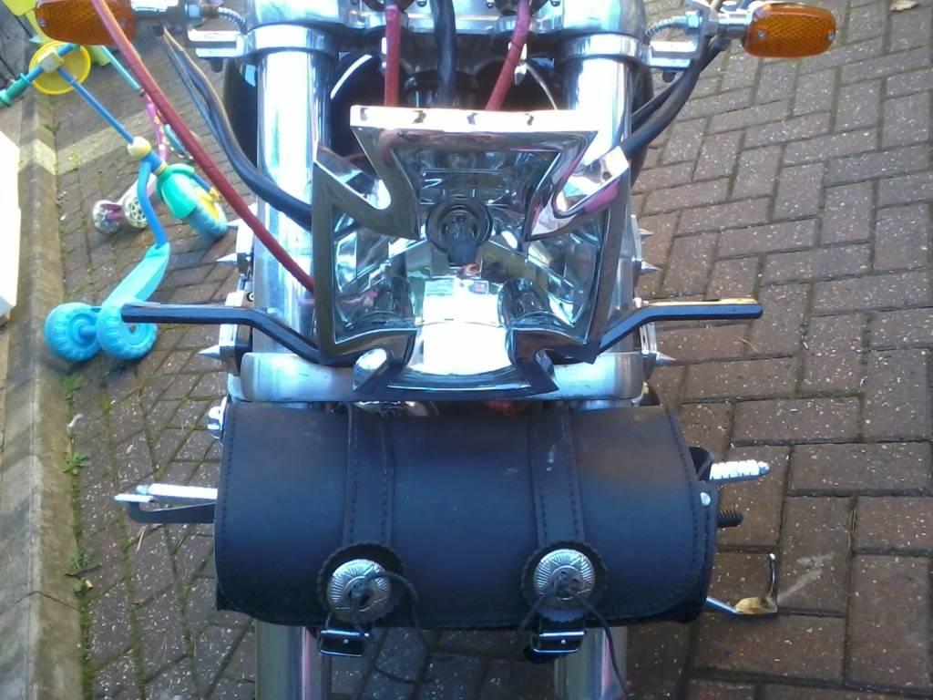 Fabricated Spotlight Bracket Suzuki VZ800v 2012-07-22181301