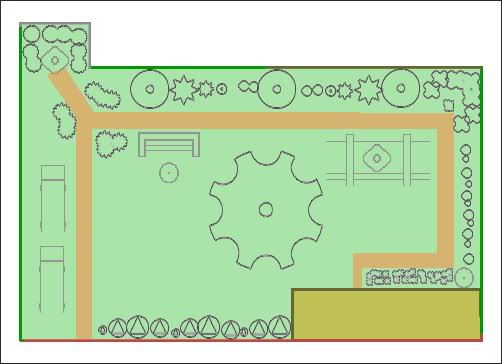 Gardening Badge Badge-garden-layout