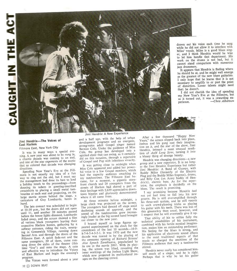 New York (Fillmore East) : 31 décembre 1969 [Second concert]  88
