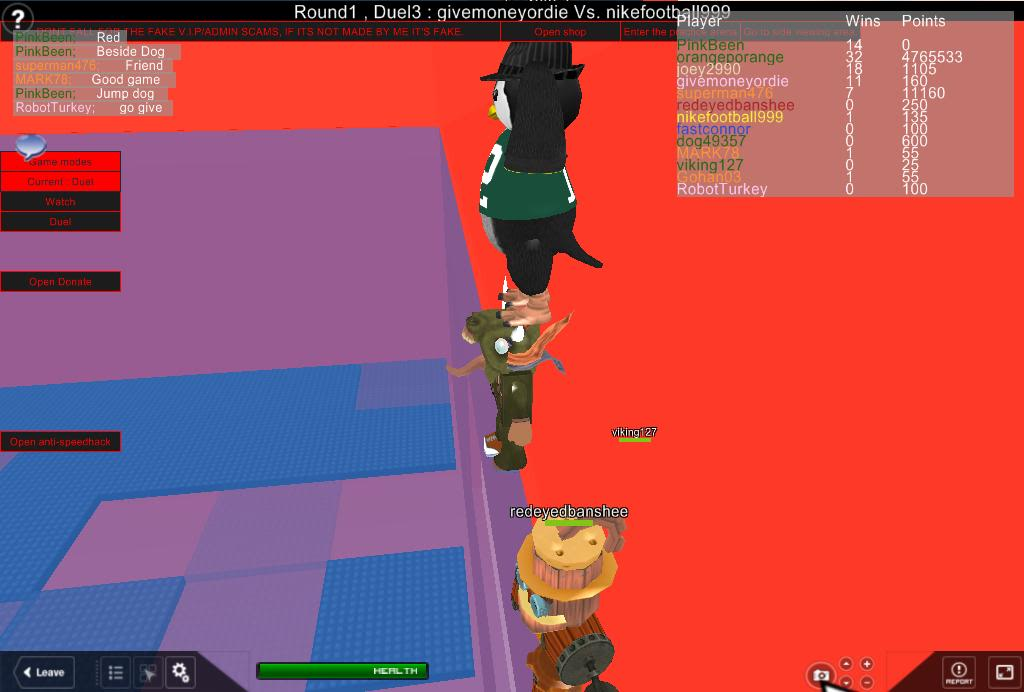 A few ROBLOX pics for Blue with penguins, a hideous monster that Stein WILL remember and Steampunk Man RobloxScreenShot03052011_080455055