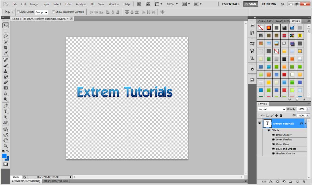 Cum realizam un text frumos cu reflexie in Photoshop 1