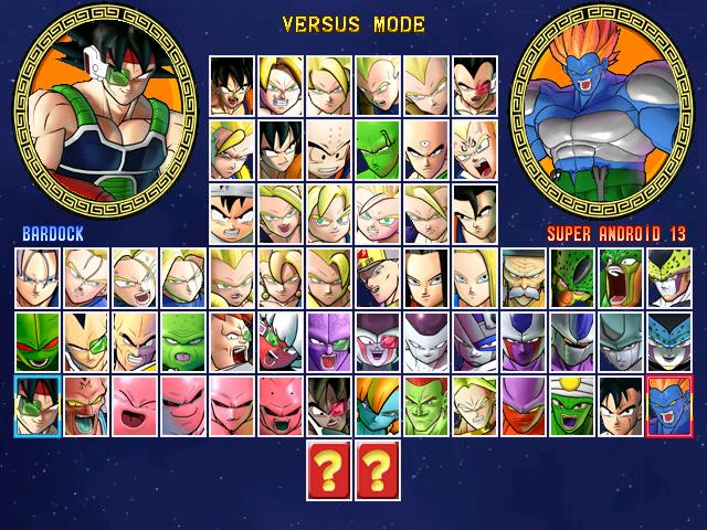 Dragon Ball Z Mugen Tenkaichi SeleccionadorDBZ