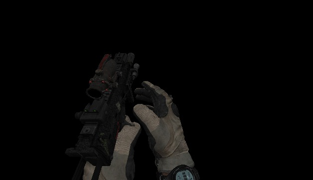 MW3 MP7 WITH MW3 HAND-RIG/BATTERY HANDS ALL ATTACHMEN+ALL