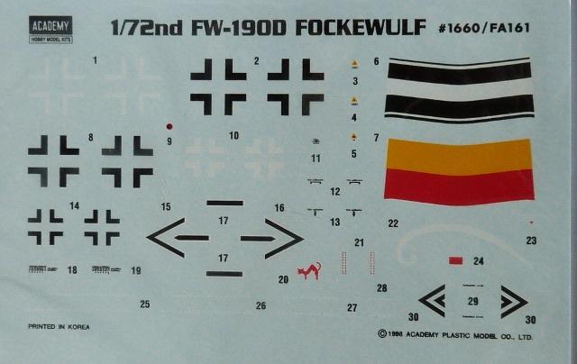 Focke-Wulf FW-190 D9, Academy, 1/72, TERMINADO D9-5