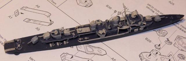 USS DD-537 The Sullivans, Trumpeter, 1/700 Fletchmont2