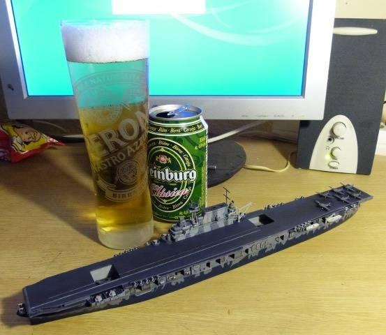 USS HORNET, CV-8, Trumpeter, 1/700 TERMINADO Hornfin11