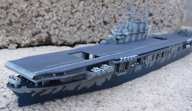 USS HORNET, CV-8, Trumpeter, 1/700 TERMINADO Hornfin3