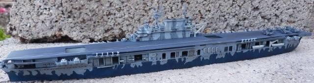 USS HORNET, CV-8, Trumpeter, 1/700 TERMINADO Hornfin4