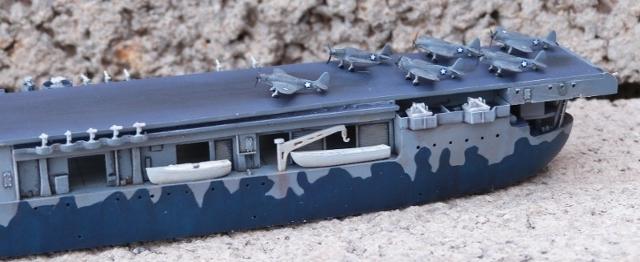 USS HORNET, CV-8, Trumpeter, 1/700 TERMINADO Hornfin5
