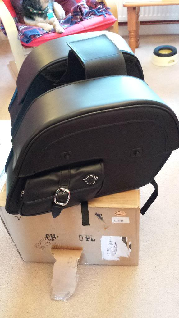 Viking Bags added ................................ to 2013 Suzuki M800 20140109_092018