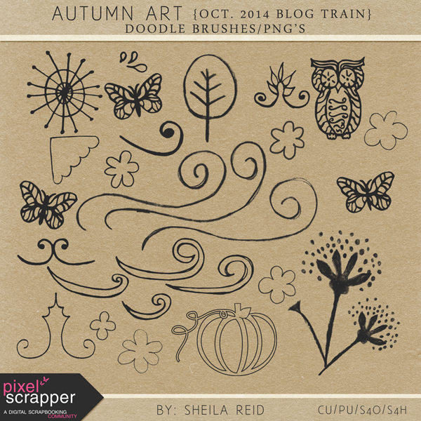 Autumn Art Free CU Doodle Brush Set Brushes_pngs_preview_600x600