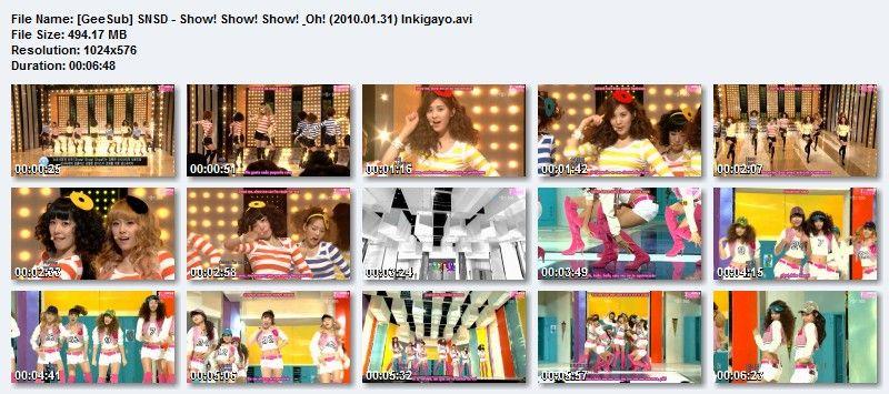 SNSD - Show! Show! Show! & Oh! (2010.01.31) GeeSubSNSD-ShowShowShowampOh20100131Inkigayo_zps841dba46