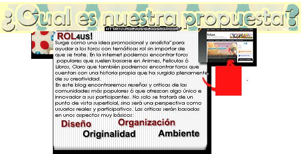 ROL4Us - ¡Apoya nuestro proyecto! Propuesta