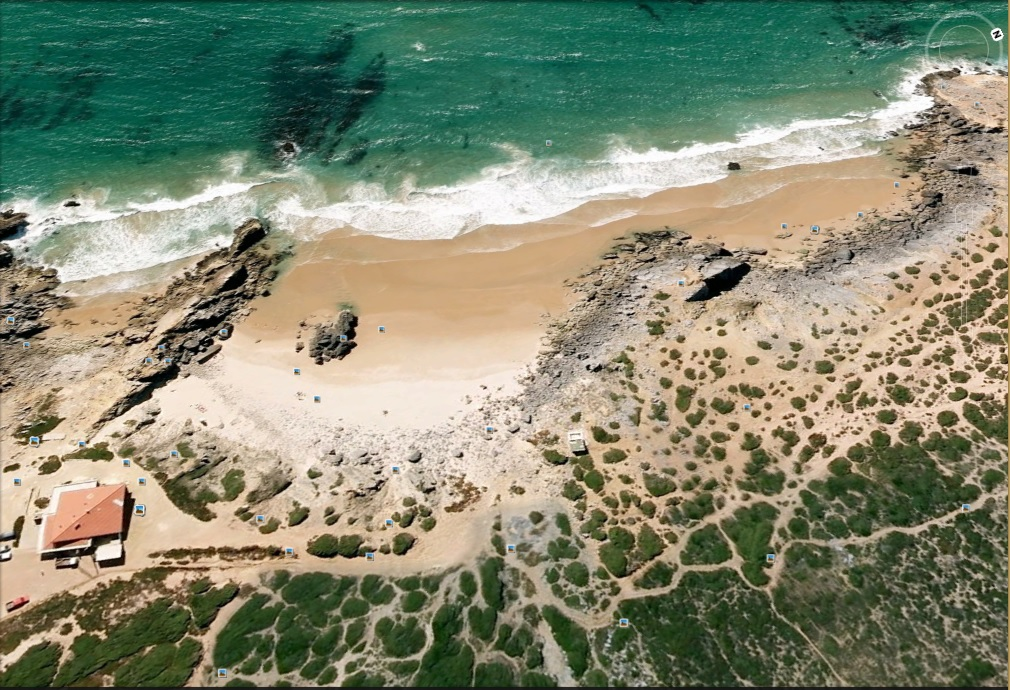Hardscape - Areia, pedras e troncos no guincho. Abano2