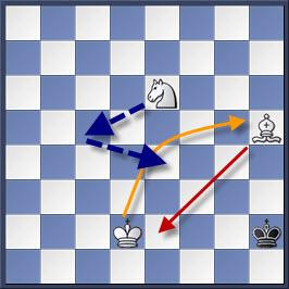 Kỹ thuật chiếu hết bằng tượng và mã trong cờ vua (phần 2) 17-2