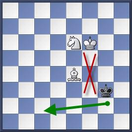 Kỹ thuật chiếu hết bằng tượng và mã trong cờ vua (phần 2) 7-2