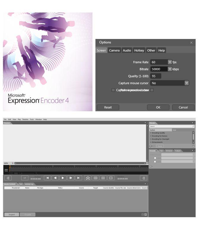 Recommendation for Screen Recording  MicrosoftExpressionEncoder4