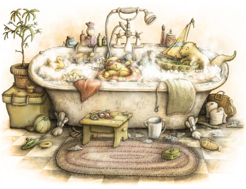 En el baño Otterbathtime