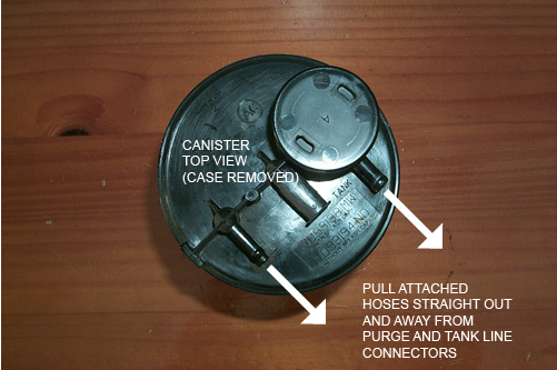 Write-up: EVAP Filter Canister Replacement for 97 Riviera (SES/DTC P0441) Canister-top