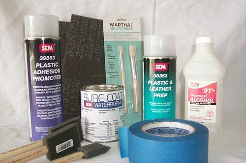 Preserving or refinishing painted vinyl steering wheel Supplies