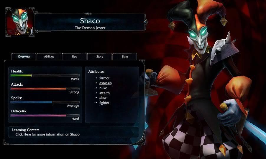 Création de l'équipe League of Legend du forum !  Shaco