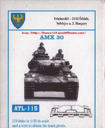 Chenilles AMX 30. Heller, ref 81301. 1/35. Plastique injecté. ChenillesAMX30_FRIULL_REFATL115_0