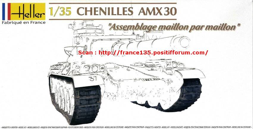 Chenilles AMX 30. Heller, ref 81301. 1/35. Plastique injecté. ChenillesAMX30_HELLER_REF81301_1