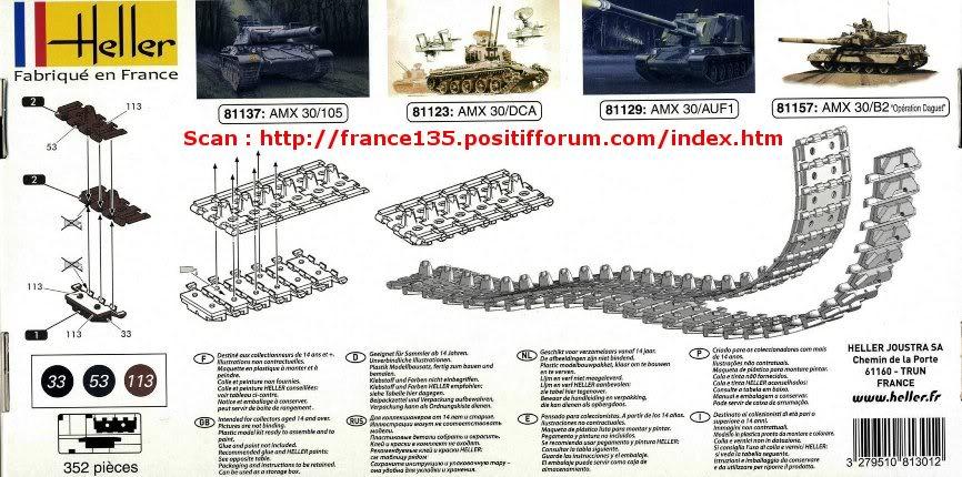 Chenilles AMX 30. Heller, ref 81301. 1/35. Plastique injecté. ChenillesAMX30_HELLER_REF81301_2