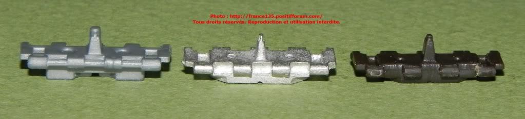 Chenilles AMX 30. Heller, ref 81301. 1/35. Plastique injecté. ChenillesX30_comparatif3