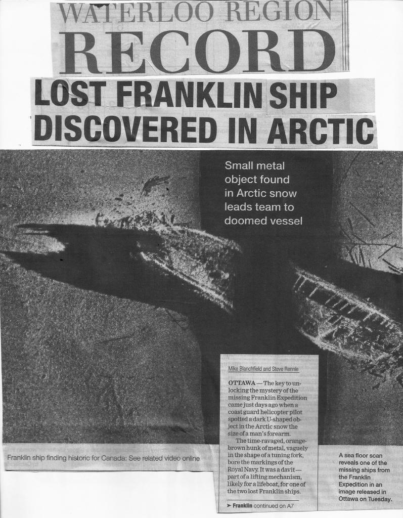 The Mystery of the Missing Franklin Expedition Ships FranklinMystery0001-1