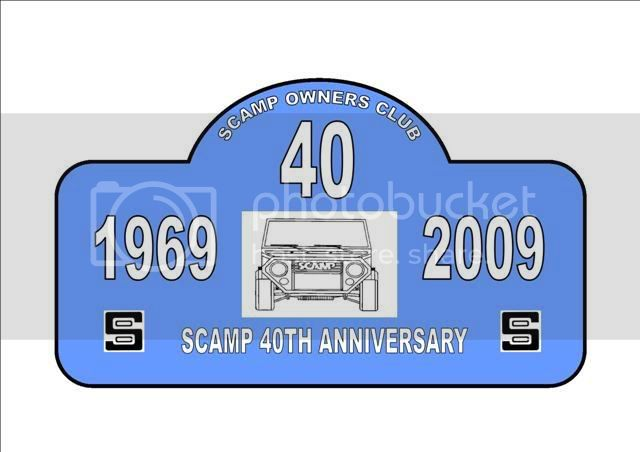 Scamp 40th Anniversary Plaque SCAMPLATEMASTERBLUELSmall