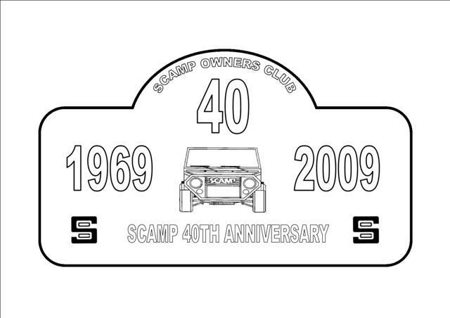 Scamp 40th Anniversary Plaque SCAMPLATEMASTERLSmall