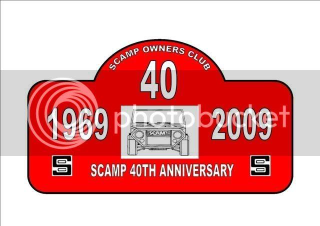 Scamp 40th Anniversary Plaque SCAMPLATEMASTERREDLSmall