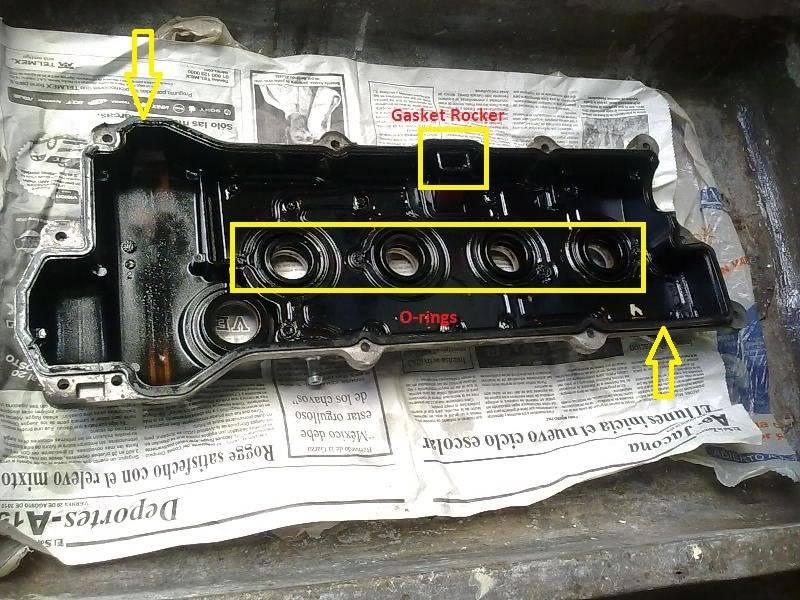 Cambio de Gasket Rocker y O-rings 02102010340