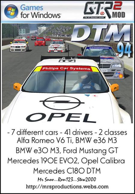 [WIP] DTM 1994 for GTL DTM94screen