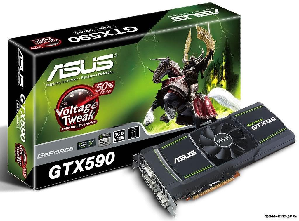 ASUS Releases its Dual-GPU GeForce GTX 590 with VoltageTweak 163a
