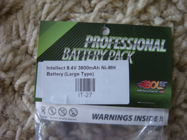 [VENDA] - Bateria Intellect 8.4V 3600mAh LARGE DSC07040