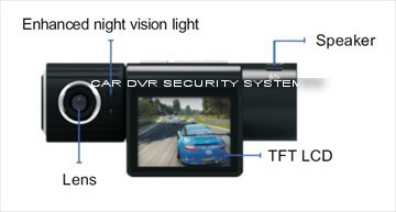 DV6080 (Black View) HD720P Night Vision 2.0 Inch Car Recorder DV6080LCD-2