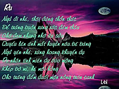 Tranh thơ Lữ Hoài Ru